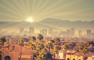 Sunrise over Phoenix Arizona