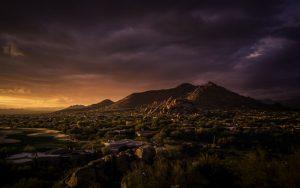 Mountain view of Phoenix, AZ