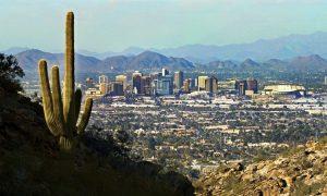 Phoenix Arizona skyline view