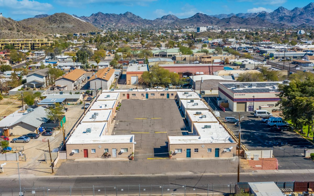 Drone view of 9411 N 13th Ave in Phoenix, AZ