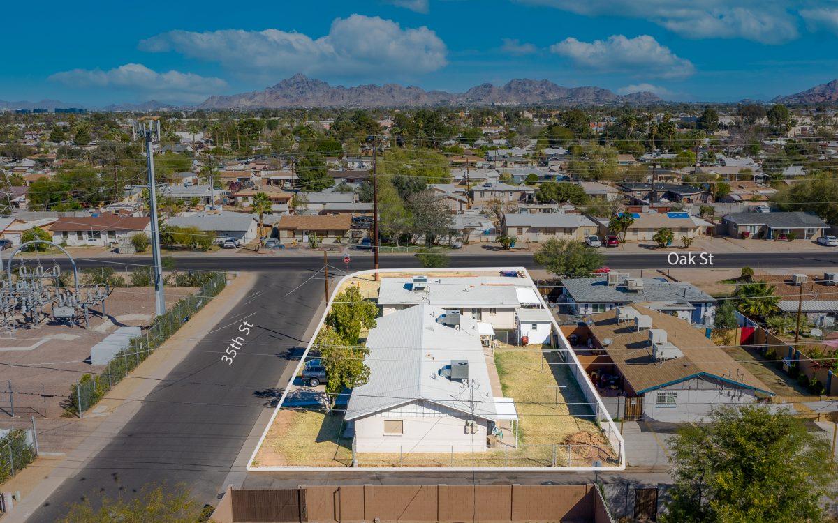 Drone view of 2229 N 35th St Phoenix, AZ